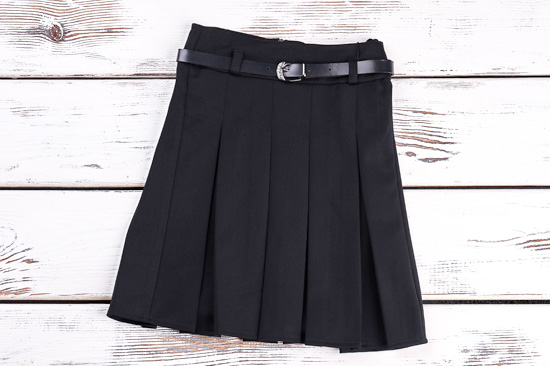 プリーツスカート黒